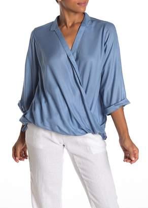 Elan International Surplice 3/4 Sleeve Blouse