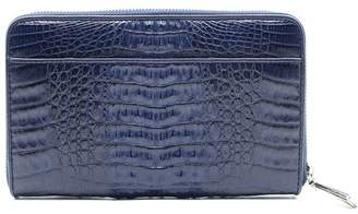 Fiona's Collection Navy Crocodile Leather Wallet