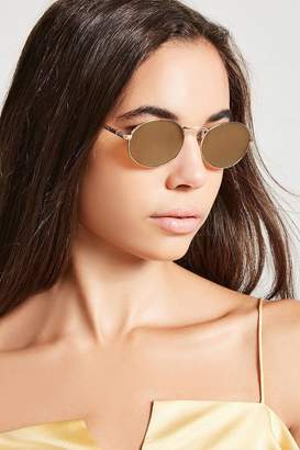 Forever 21 Mirrored Oval Sunglasses