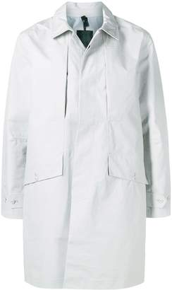 The North Face classic fitted trench coat