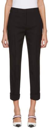 Prada Black and White Side Band Trousers