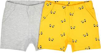 La Redoute Collections Pack of 2 Plain + Printed Shorts, 1 Month-3 Years