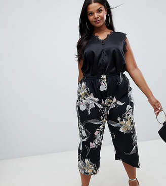AX Paris Plus Plus slim leg floral trousers