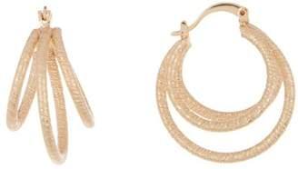 Ettika Textured Cage 30mm Hoop Earrings