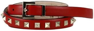 Valentino Belt Adjustable Rockstud Spike Belt 1.5cm Wide