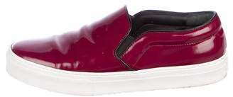 Celine Patent Leather Slip-On Sneakers