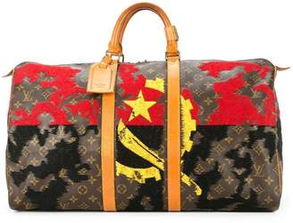 Jay Ahr sickle and hammer embroidered vintage Louis Vuitton keepall