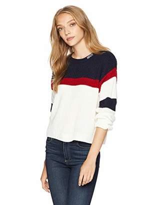 Obey Junior's Alli Striped Crewneck Sweater