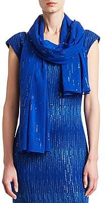 St. John Women's Silk Sequin Wrap