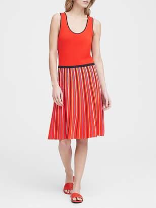 Banana Republic Petite Stripe Knit Fit-and-Flare Dress