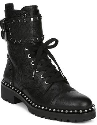 Sam Edelman Women's Jennifer Studded Leather Combat Booties