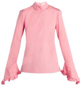 Erdem Lindsay Cotton Blouse - Womens - Pink