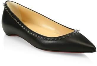 Christian Louboutin Anjalina Studded Leather Flats