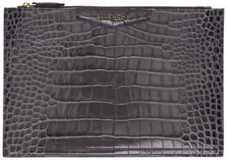 Givenchy Grey Croc Medium Antigona Pouch