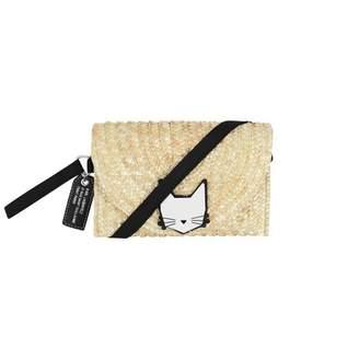 Karl Lagerfeld LagerfeldGirls Choupette Straw Shoulder Bag