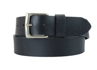 Montauk Leather Club 1-1/2 in. US Steer Hide Leather Pebble Grain Men's Belt w/ Antq. Nickel Buckle