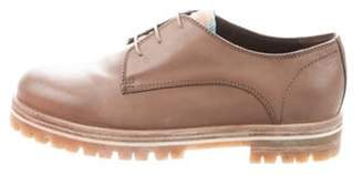 AGL Leather Round-Toe Oxfords Brown Leather Round-Toe Oxfords