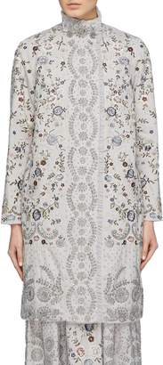 Needle & Thread 'Ella' sequin floral embroidered patchwork Ottoman coat