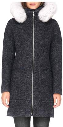 Soia & Kyo Women's Fox Fur-Trim Puffer Coat