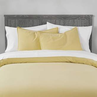 Pottery Barn Teen Vintage Washed Organic Cotton Duvet Cover, Full/Queen, Flax Yellow