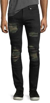 God's Masterful Children Distressed Slim-Straight Jeans with Backing