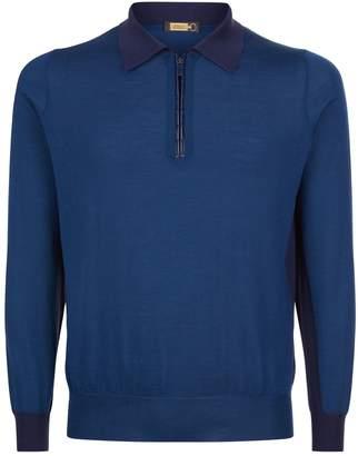 Zilli Contrast Collar Polo Shirt