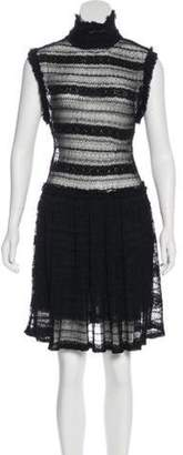 Opening Ceremony Lace Knee-Length Dress Black Lace Knee-Length Dress
