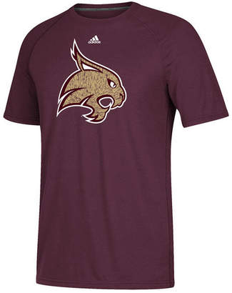 adidas Men's Texas State Bobcats White Noise Logo T-Shirt