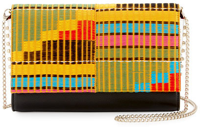 Christian Louboutin Christian Louboutin Paloma Embroidered Clutch Bag