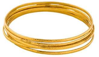 Gurhan 24K Hammered Bangle Set