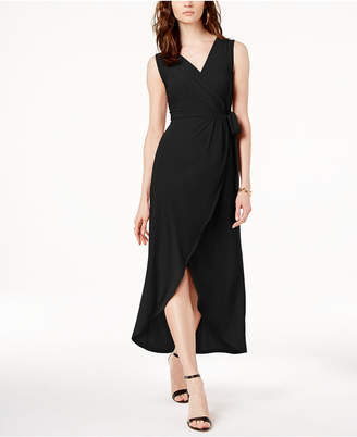 INC International Concepts I.n.c. Faux-Wrap Tulip-Hem Dress, Created for Macy's
