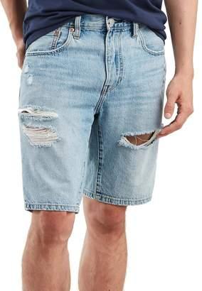 Levi's 502 Tapered Denim Shorts (Shredded Short Light DX)