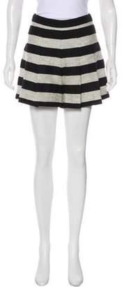 Alice + Olivia Striped Mini Shorts