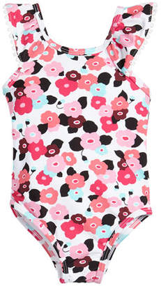 Kate Spade Blooming Floral One-Piece Swimsuit, Size 12-24 Months