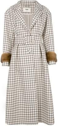 Fendi (フェンディ) - Fendi check belted trench coat