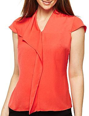 JCPenney Worthington® Ruffle-Front Blouse