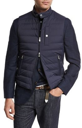 Brunello Cucinelli Quilted Nylon Down Gilet $1,545 thestylecure.com