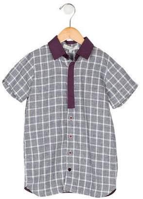 Paade Mode Boys' Plaid Linen Shirt