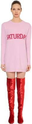 Alberta Ferretti Saturday Wool & Cashmere Sweater Dress