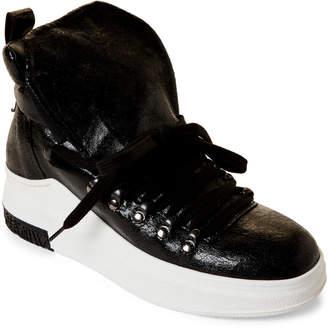 Cinzia Araia Black & White Wulki Coated High-Top Sneakers