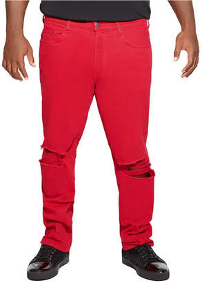 Mvp Collections Distressed Red Denim Jean
