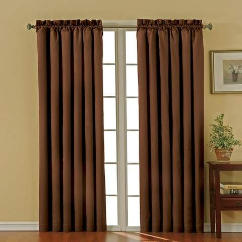 Thermaback Canova Blackout Curtain Panel - Chocolate (42