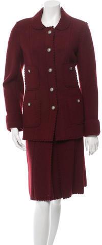 ChanelChanel Wool Skirt Suit