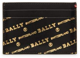 Bally Bhar Logo Leather Card Case