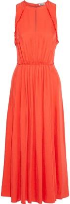 Jason Wu Pleated Twill Midi Dress