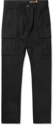 Munsoo Kwon Black Brushed Span Cargo Pants