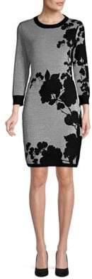 Calvin Klein Long-Sleeve Floral Sheath Dress
