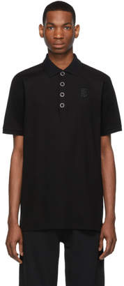 Burberry Black Press-Stud Polo