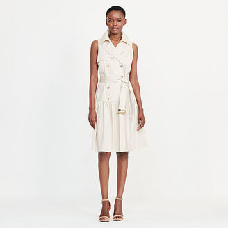 Ralph Lauren Lauren Stretch Cotton Trench Dress $145 thestylecure.com
