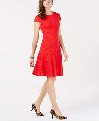 Alfani Lace Fit & Flare Dress